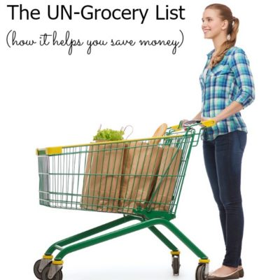 Money Saving Concept - The UN-grocery list