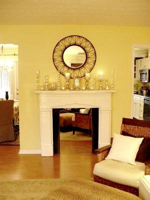 pine mantel painted white