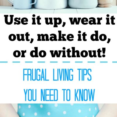 Frugal Living Tips From The Depression
