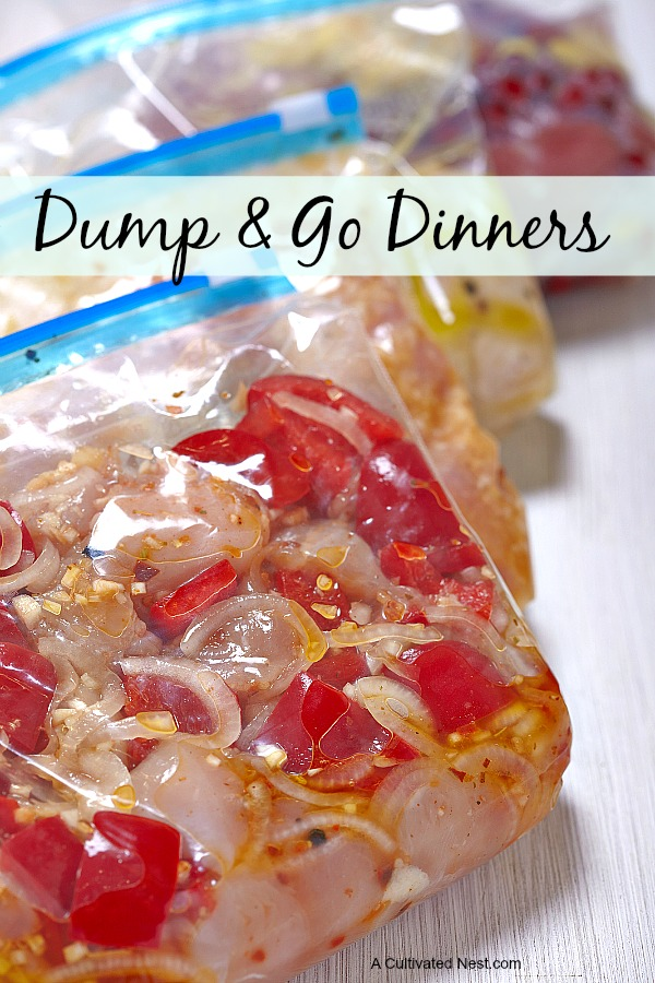 Dump and Go Dinners - Easy to make ahead dinners