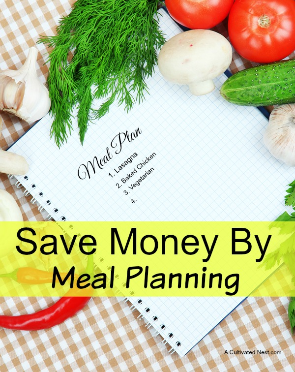 Save money by meal planning.  Good info on how to get started!