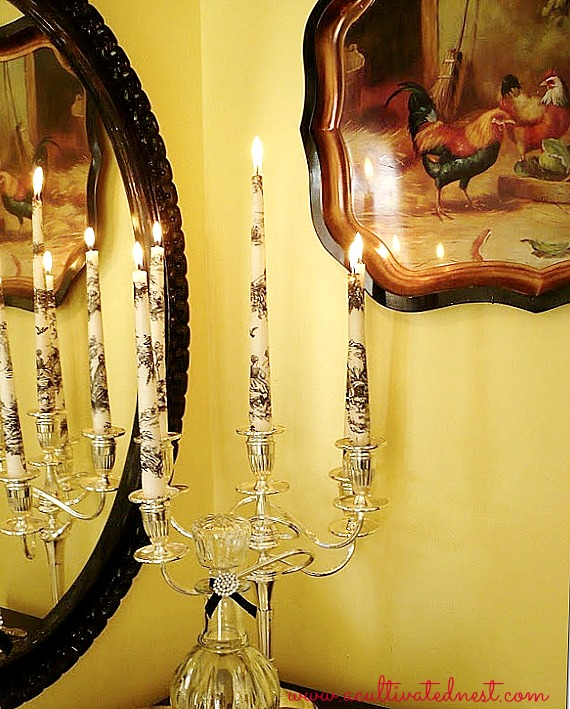 how to make toile candles