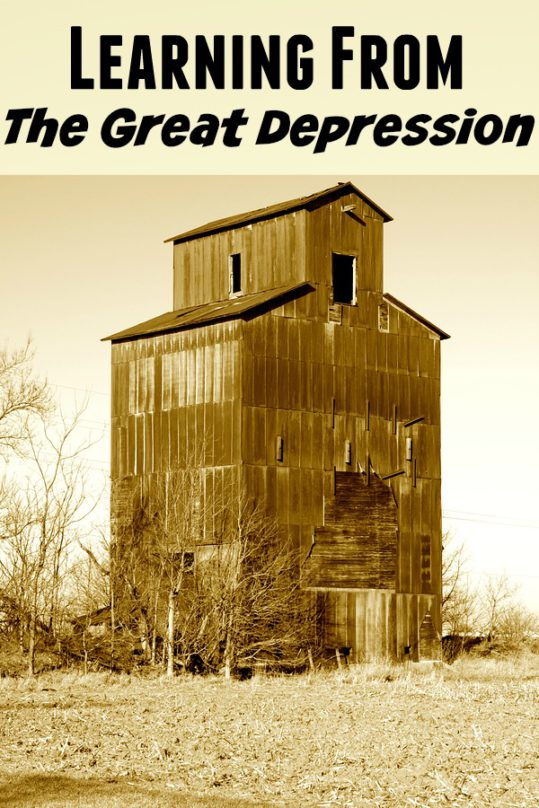 Learning From The Great Depression - I have so much respect for those that came through The Great Depression who came through stronger and with much wisdom.