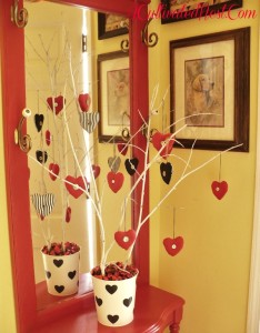 Valentine's Decorations & Re-puposing a Potholder