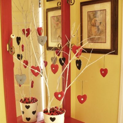 Fabric Heart Valentine Tree