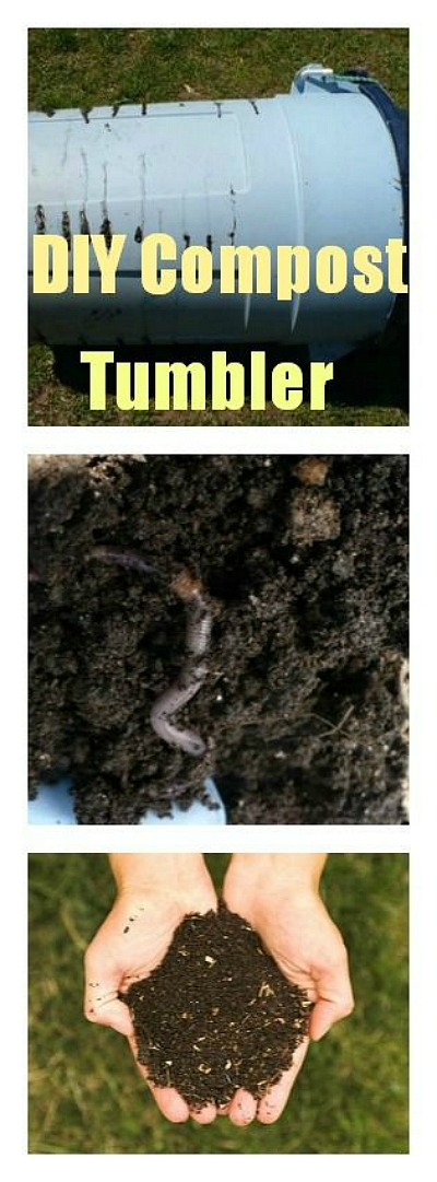 how to make a cheap compost tumbler