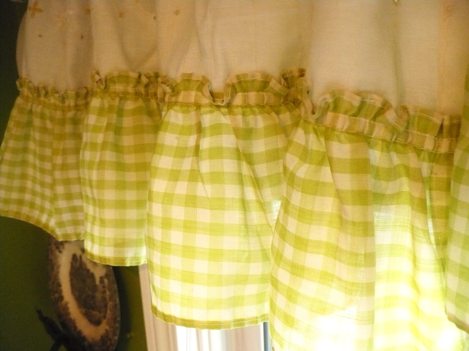 Yellow Gingham Kitchen Curtains Doing Trying New Stuff Wips A Cultivated Nest