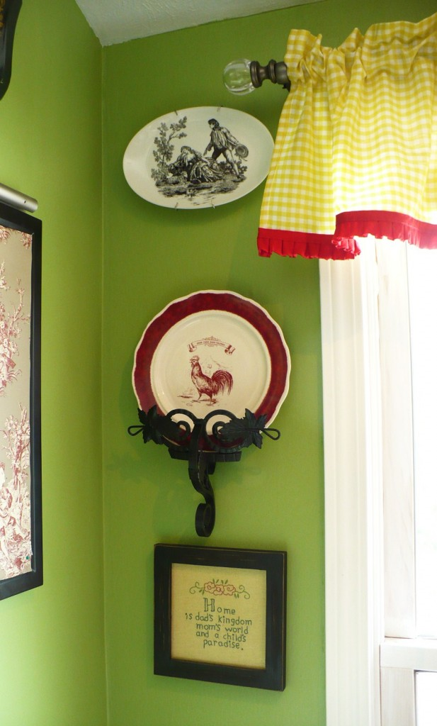 country living rooster plate