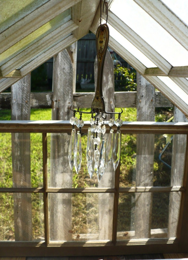 upcycled windows into garden conservatory