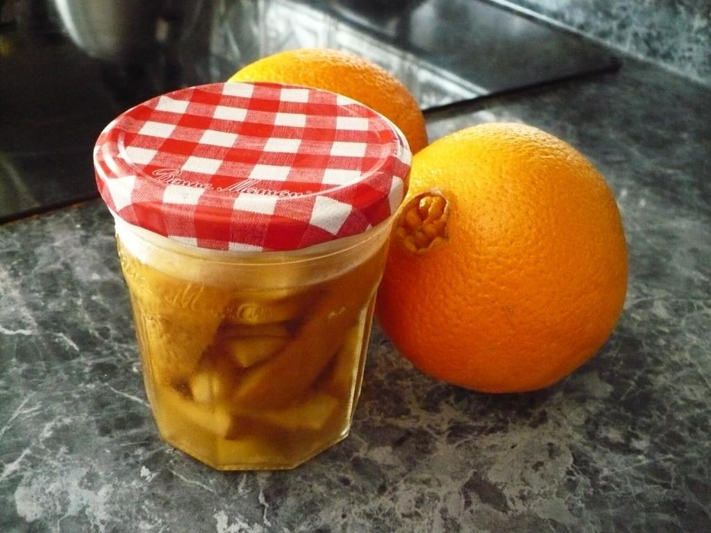 soaking orange peels in vinegar to make cleaner