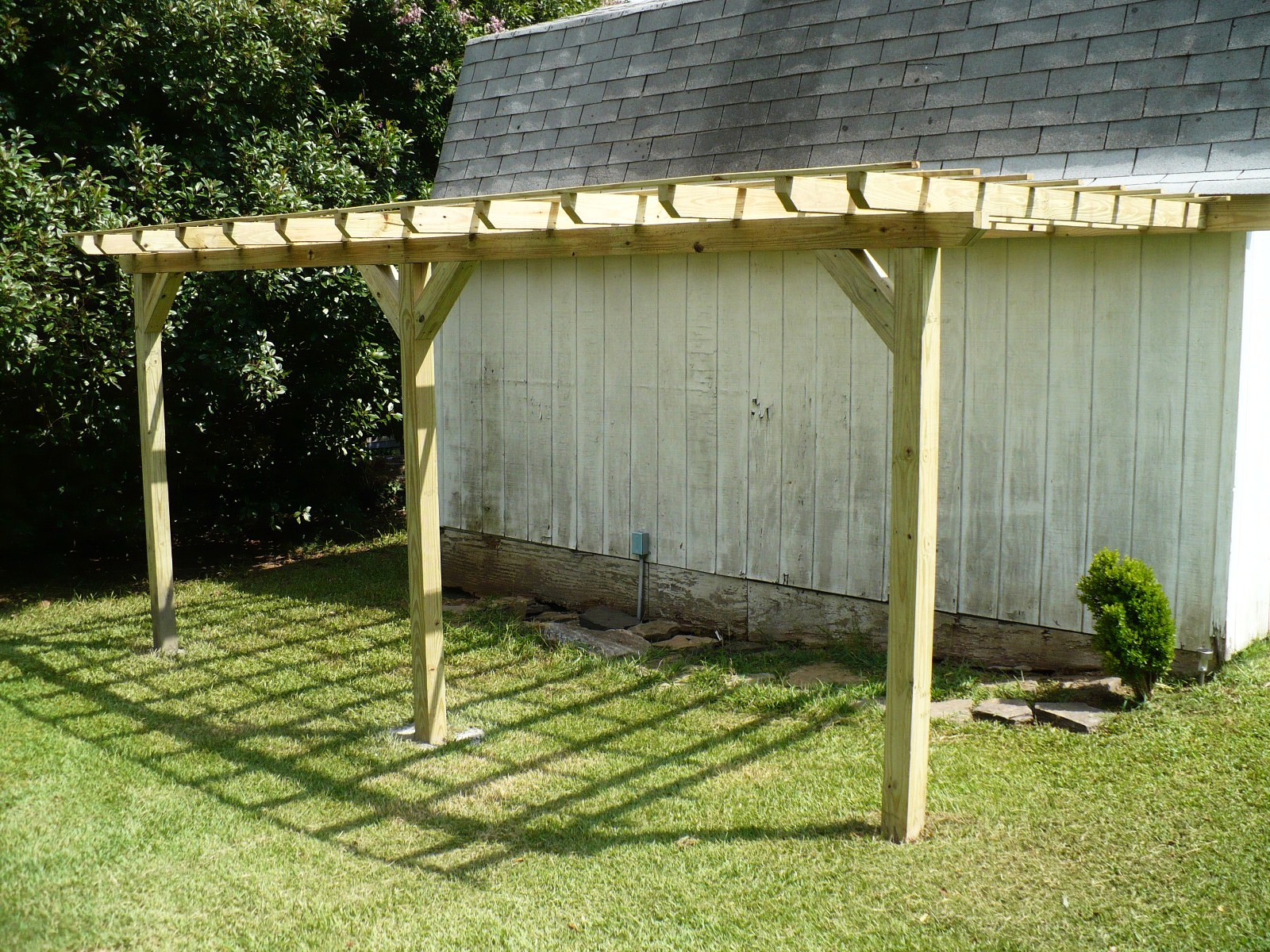 Pergola Attached To Side Of Barn