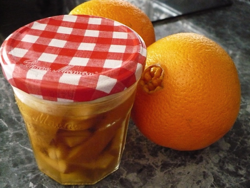 non-toxic natural cleaner made by soaking orange peels vinegar