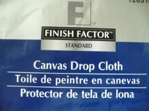 finish factor drop cloths used to make slipcover