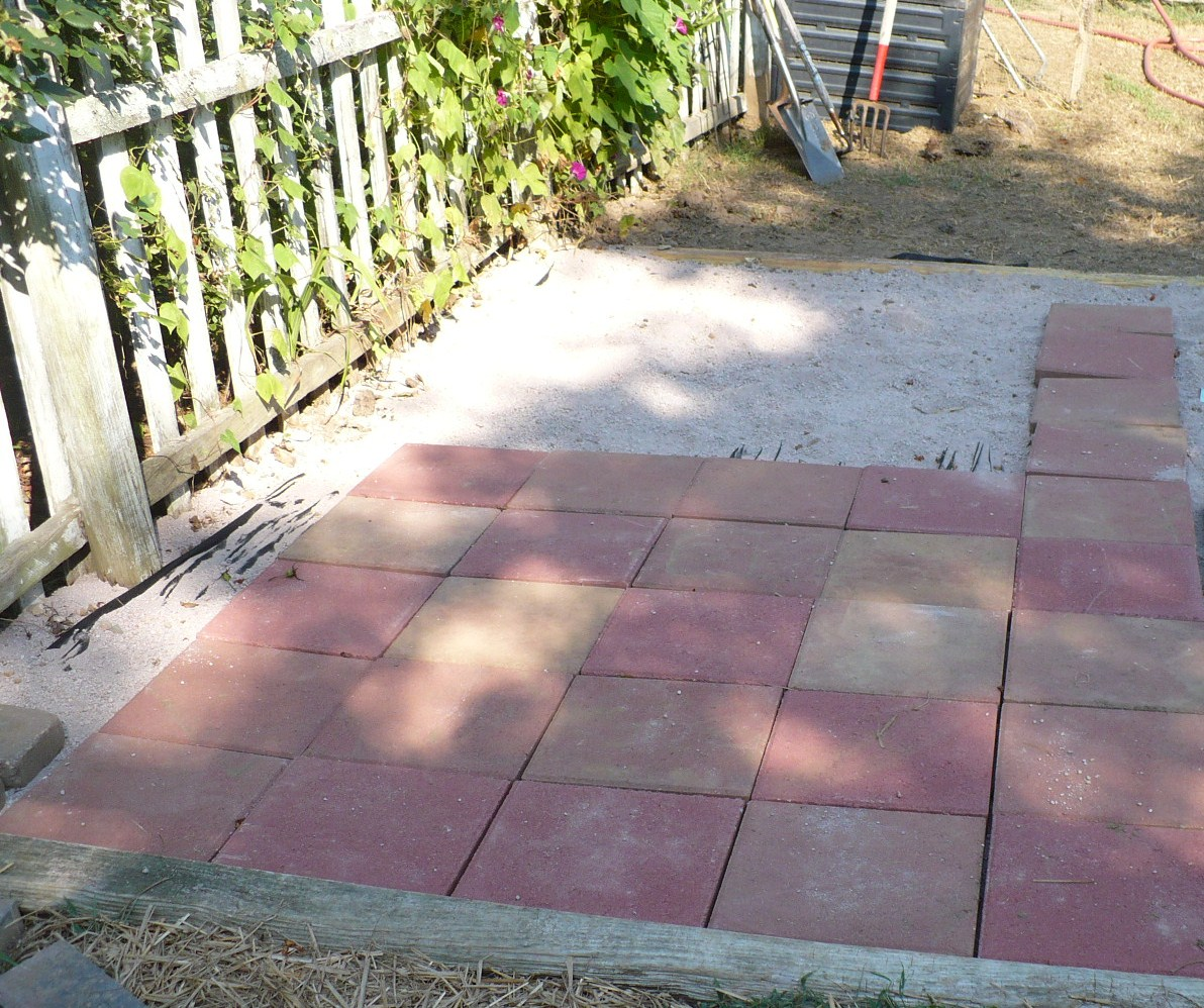 laying pavers A Cultivated Nest