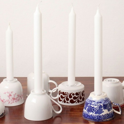 teacup candle holders