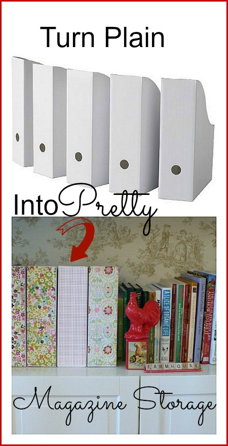 DIY magazine storage containers  using mod podge