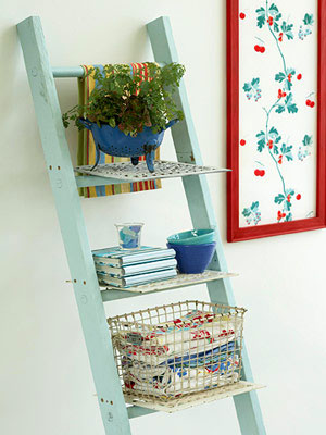 ways to use old ladders in your home