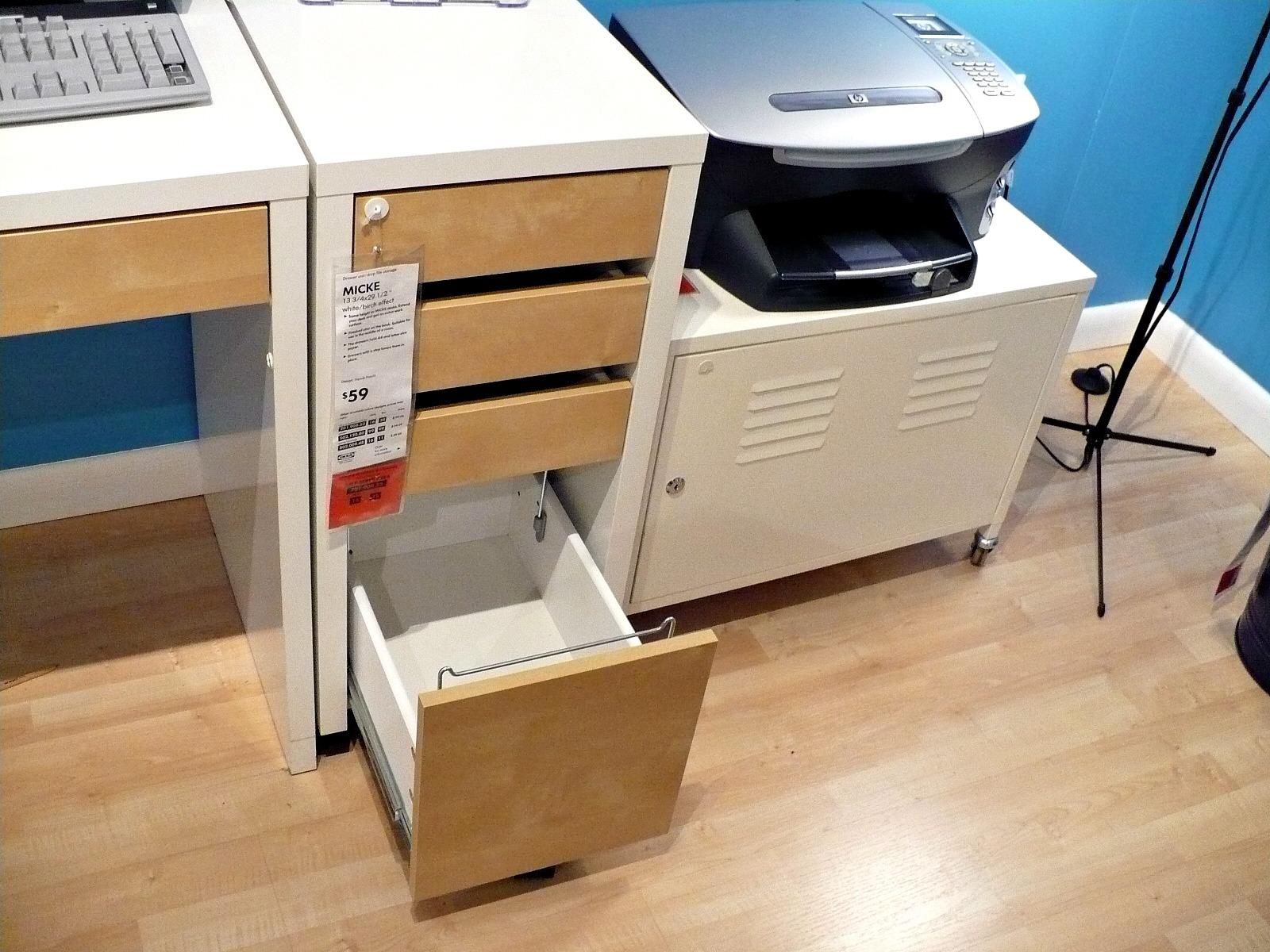 Desk With File Cabinet Ikea
