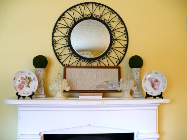 faux fireplace mantel