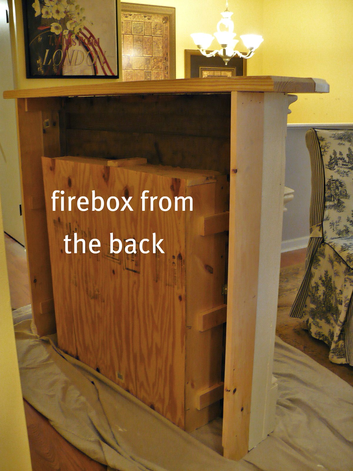 Build A Fake Fireplace How To Make A Faux Fireplace A Cultivated Nest