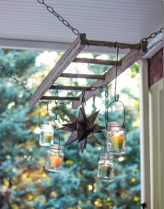 hanging ladder light fixture from Unskinny Boppy