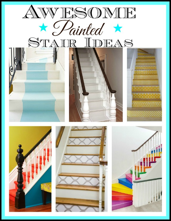 A Round up of Painted Stair Ideas