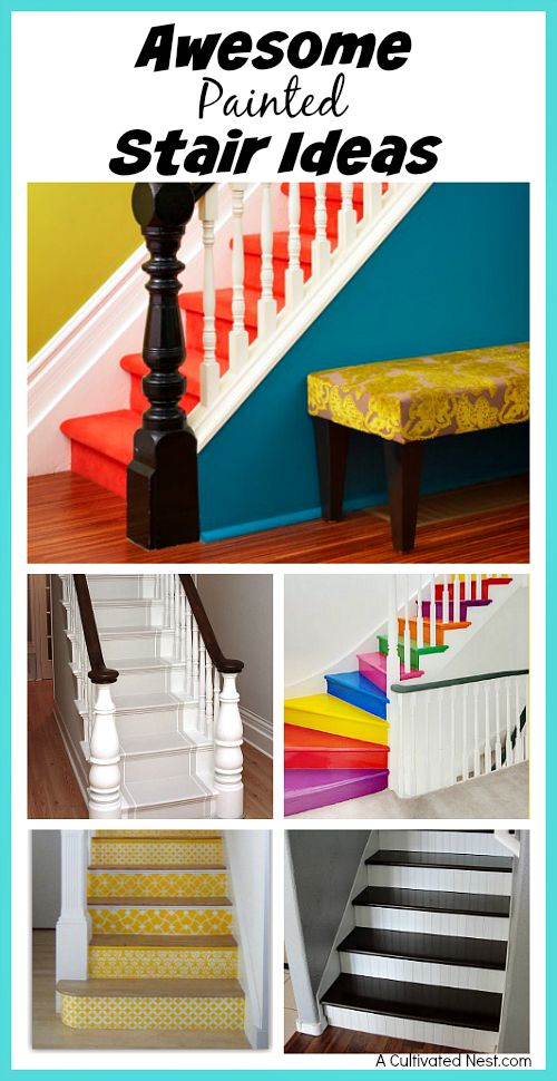 Awesome DIY Painted Stair Ideas