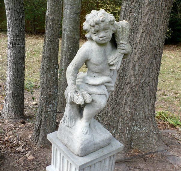 concrete garden cherub