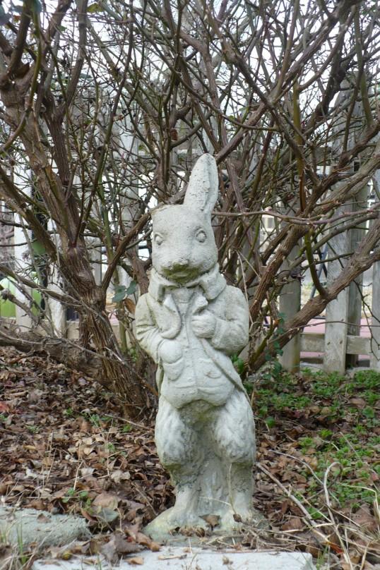 concrete garden bunny