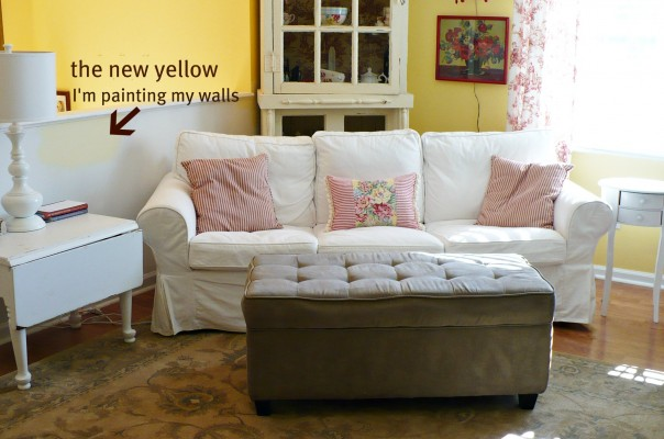 white slipcovered couch