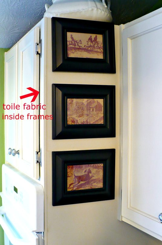 framed fabric as art