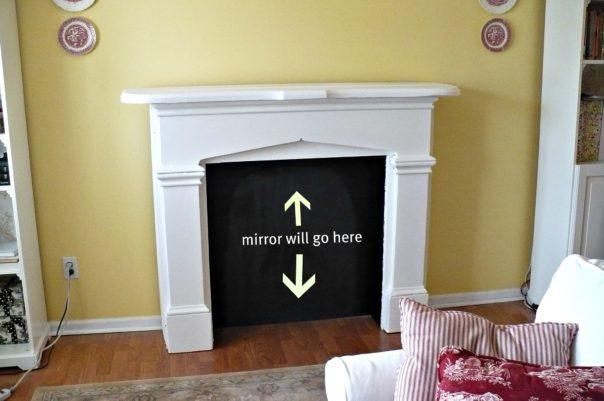 fake fireplace