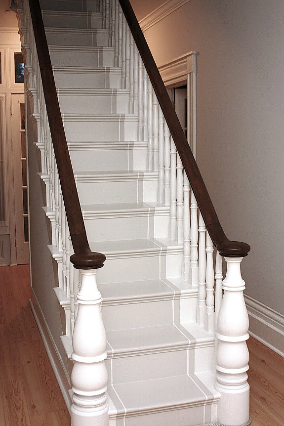 painted runner on stairs |Painted Stair Ideas