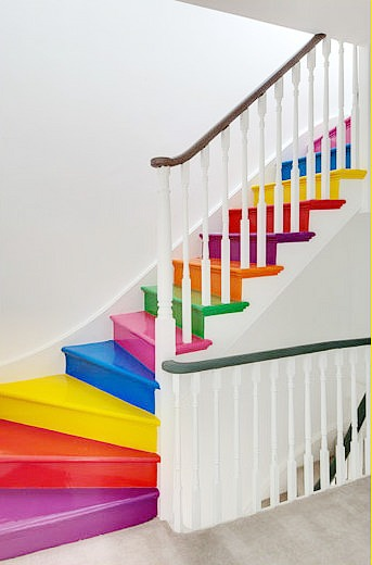 9 Awesome Painted Stair Ideas