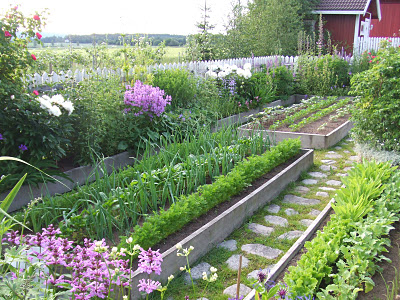 Vegetable gardens a cultivated nest for Beautiful raised gardens