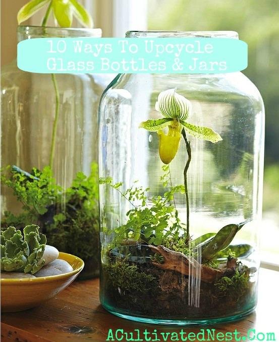 10 ways to upcycle glass jars