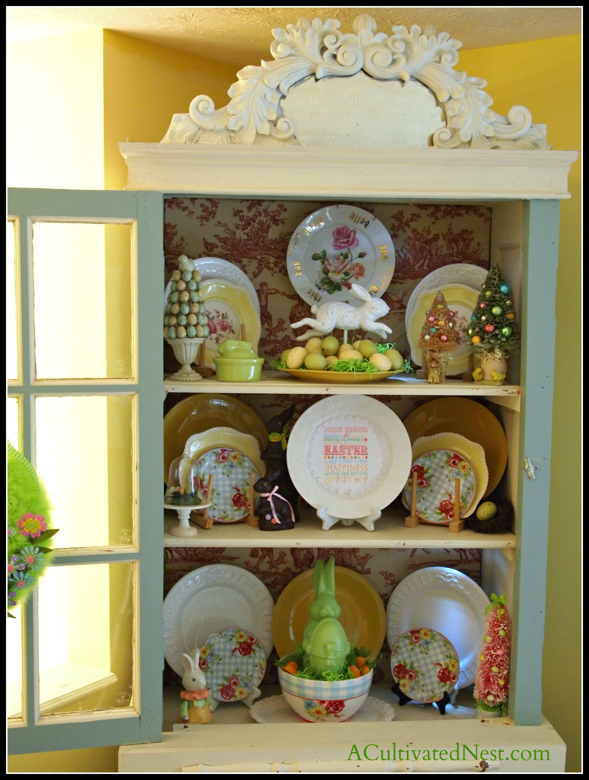 easter china cabinet a cultivated nest