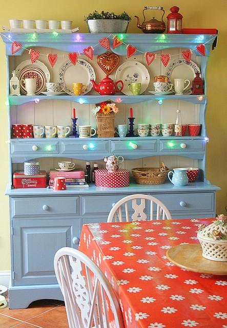 blue cottage cupboard