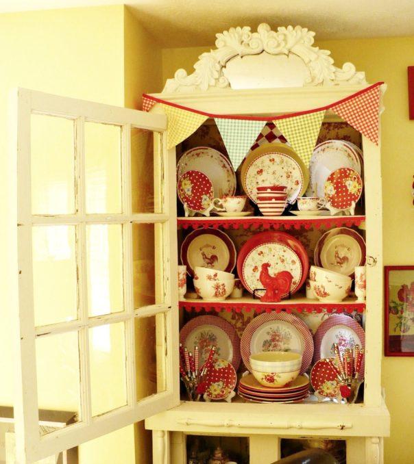 cottage style china cabinet