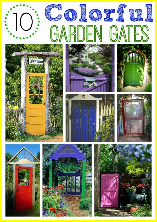 colorful garden gate ideas