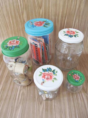 cute storage jars