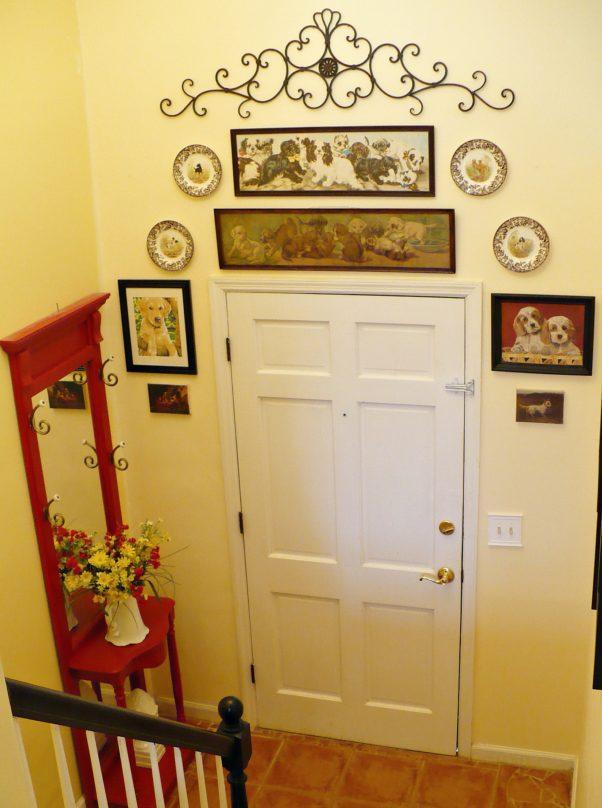 gallery wall in foyer