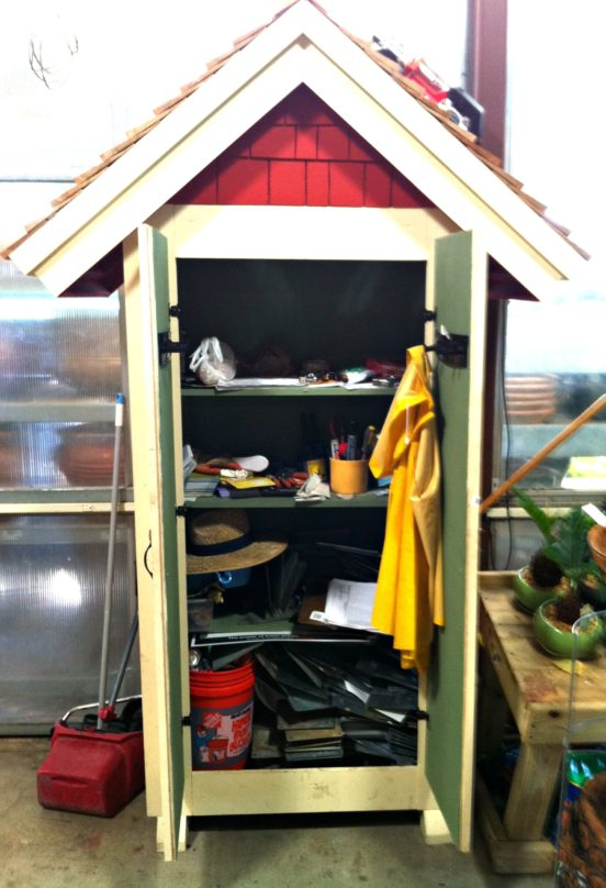 inside small garden shed