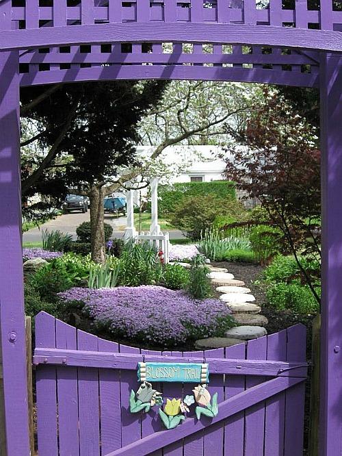 lavender garden gate