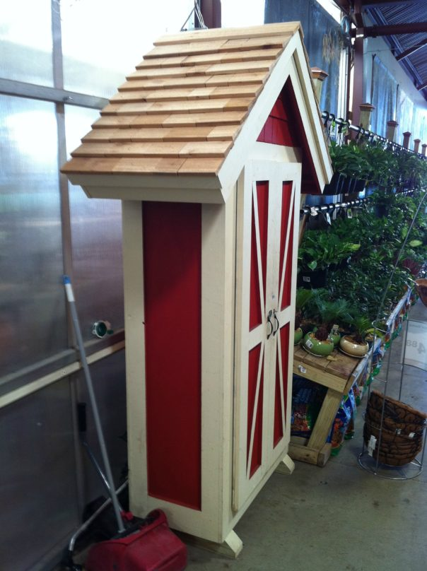 side view small garden shed
