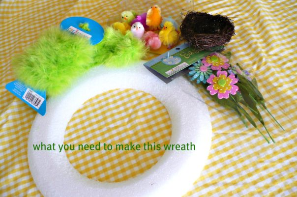supplies needed to make this wreath