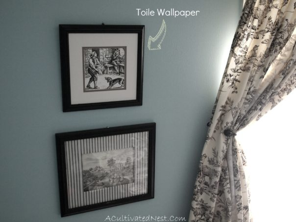 Framed Toile Wallpaper