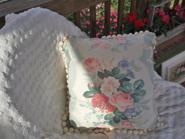 barkcloth pillow
