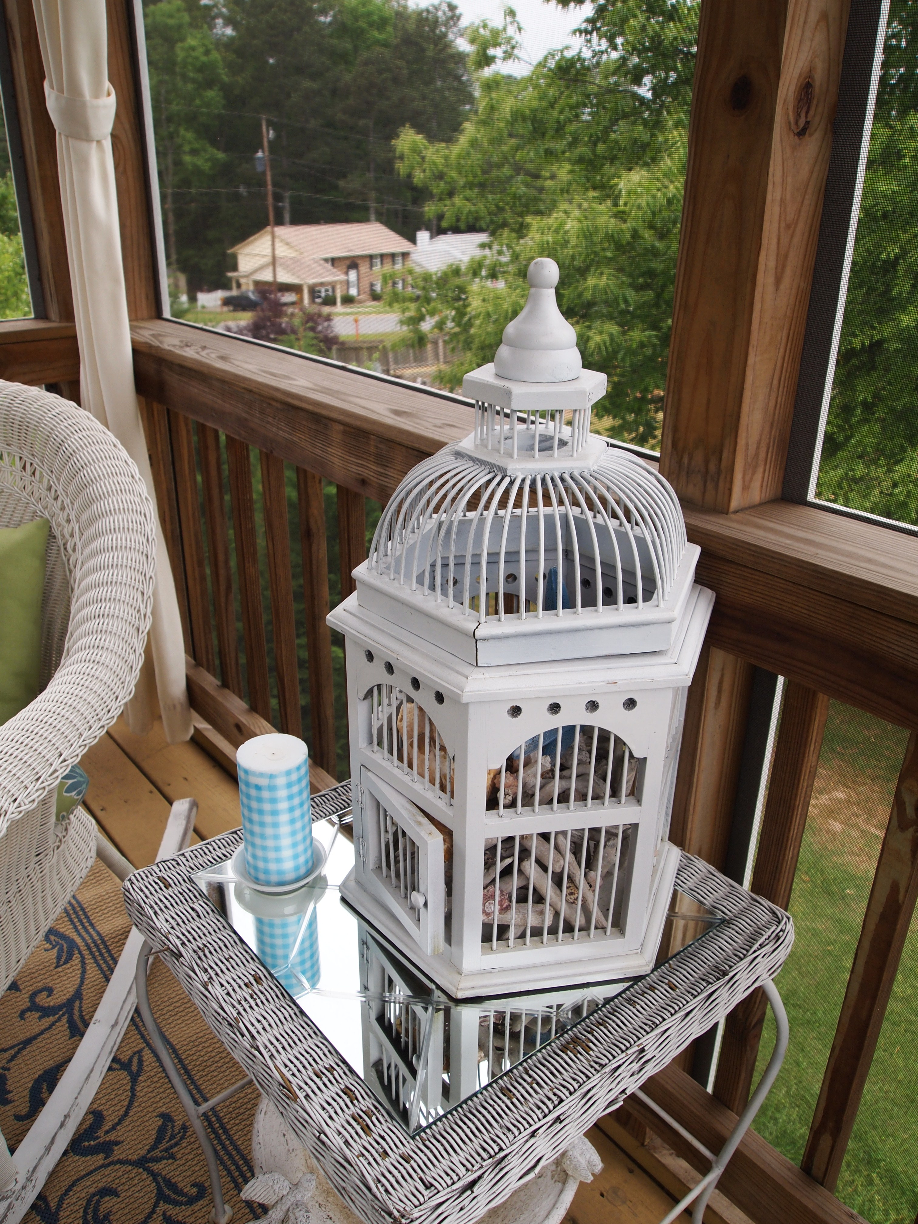 This Is The Birdcage I Found At Goodwill Last Year It Has Driftwood