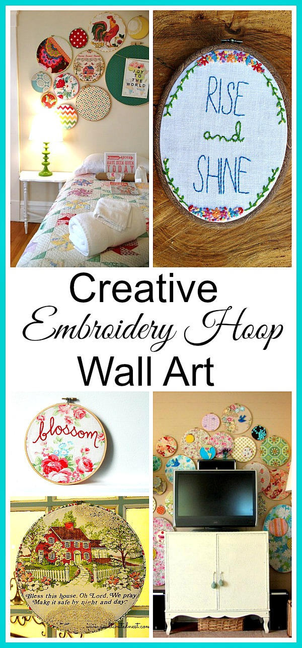 Creative Embroidery Hoop Wall Art Ideas